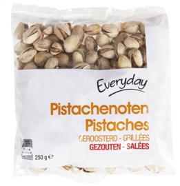 EVERYDAY  pistachenoten geroosterd en gezouten  -  250 gr.