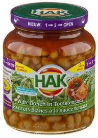 HAK witte bonen in tomatensaus 360 g