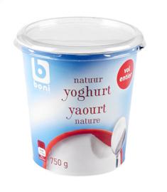 BONI SELECTION  volle yoghurt natuur -  750 gr