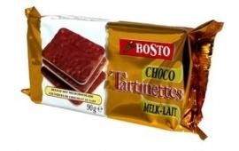 BOSTO  tartinettes met melk, milk chocolade - 90 gr.