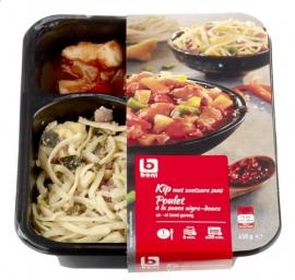 Kip met zoetzure saus, ananas, paprika, ham,... - BONI SELECTION - 450 gr.