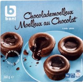 Diepgevroren moelleux chocolat - 360 gr  -  4 Stuks.