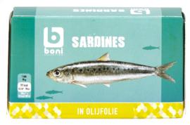 BONI SELECTION  sardines in olijfolie  - 125 gr