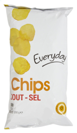EVERYDAY  chips zout  - 200 gr