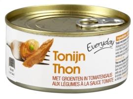 EVERYDAY  tonijn met groenten in tomatensaus -  185 gr.