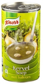 KNORR  kervelsoep met balletjes, in blik - 515 ml