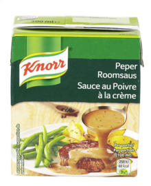 KNORR  saus peperroom in brik   -  300 ml