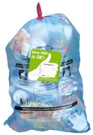 PMD zak (blauw), 1 stuk - Zak voor Metaal, Plastic en Drankkartons