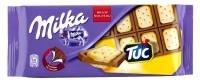 MILKA melkchocolade met Tuc koekjes 87 g