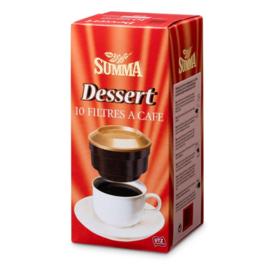 SUMMA®  Koffiefilters dessert  -  10 stuks.