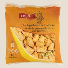 CRIBBITS puree met wortelen - 1 kg wortelpuree.