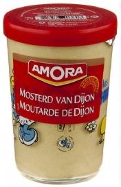 AMORA  fijne mosterd Dijon (sierglas)  - 195 gr.