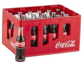 COCA-COLA glazen fles (bak)  24 x 20 cl.  -  5 € statiegeld.