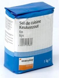 EVERYDAY  zeer fijn keukenzout - 1kg