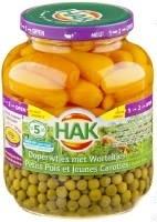 HAK doperwt-wortel extra fijn bocal 690g