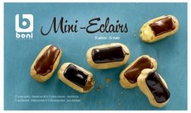Diepgevroren mini-eclairs  400 gr  *Met Belgische chocolade*  -  24 stuks.