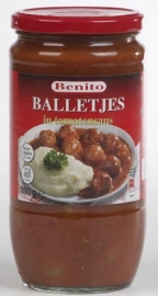 EVERYDAY - BENITO  balletjes in tomatensaus - 800 gr