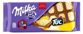 MILKA melkchocolade met Tuc koekjes -87 gr. *Nieuw -New*