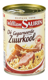 WILLIAM SAURIN  gegarneerde zuurkool - 400 gr.