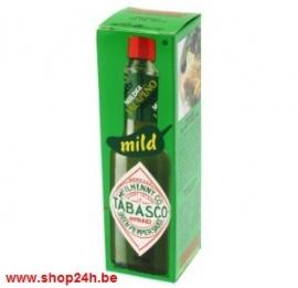 Tabasco (Mc ilhenny)  Groen - Mild Japaleno saus,sauce - 57 ml.