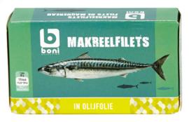 BONI SELECTION  makreelfilet in olijfolie  -  125 gr.