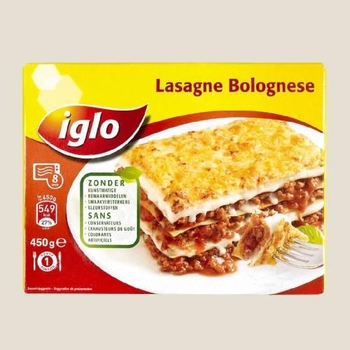 IGLO lasagne bolognese 450 gr. - diepgevroren