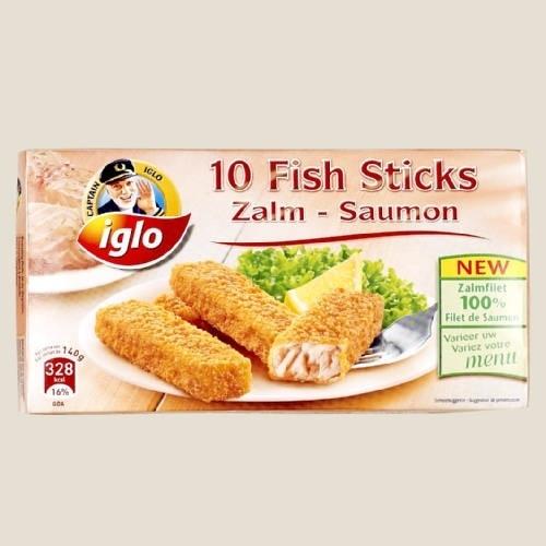 IGLO fishsticks met zalm, 280 gr fishsticks.