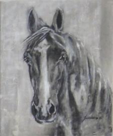 Paardenschilderij 'Rico'