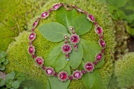 Collier 'Dream color fuchsia'
