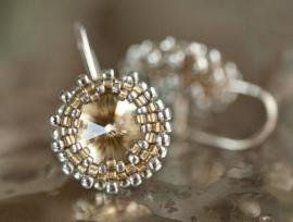 Oorbellen 'Light gold in Silver'