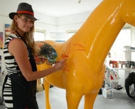 Veuve Clicquot - Kunstpaard by Loeviera