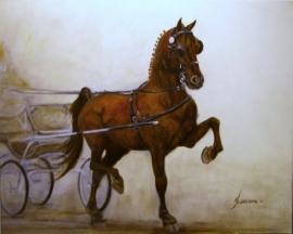 Paardenschilderij Stuurboord