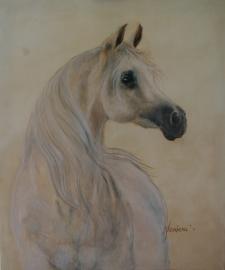 Paardenschilderij 'Jasmeenah'