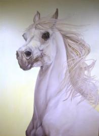 Paardenschilderij 'Victory The White Horse'