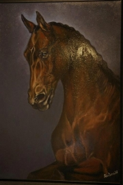 Paardenschilderij 'Gestion Bonfire'