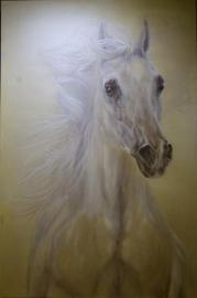 Paardenschilderij 'Herald'
