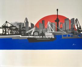 Muurschildering Rotterdam