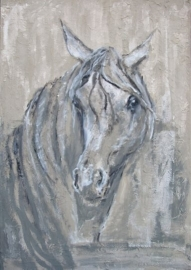 Paardenschilderij 'Anybody out there'