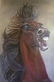 Paardenschilderij 'War Horse'