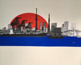 Muurschildering Tokyo