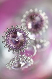 Oorbellen 'Light Amethyst'