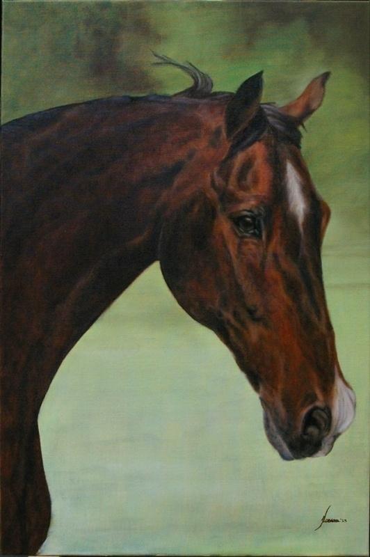 Wonderbaarlijk Paarden schilderij laten maken | Paarden schilderij / Horse KH-06