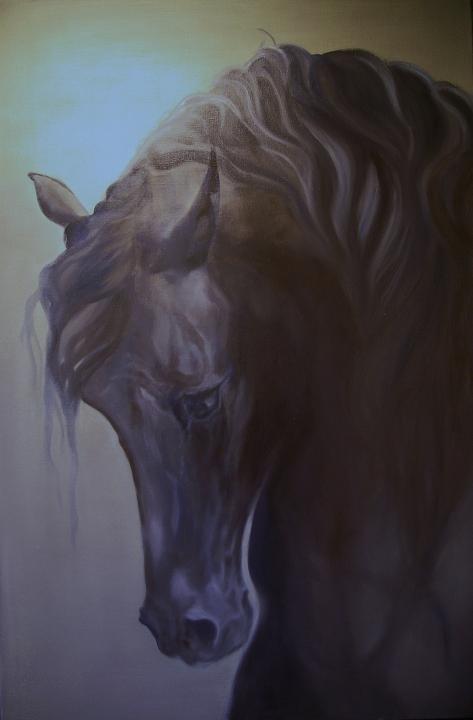 Paardenschilderij 'Weltschmerz'