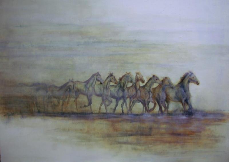 Paardenschilderij 'Camargue Horses'