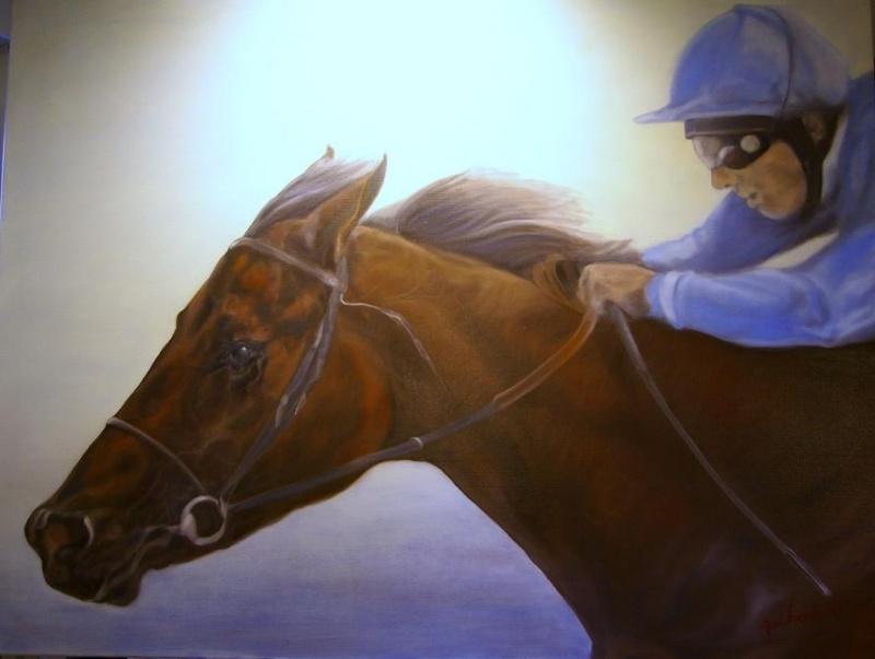 Paardenschilderij 'Dubai Millenium'