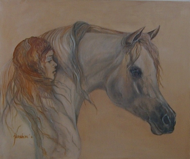 Paardenschilderij 'Irish Beauty'