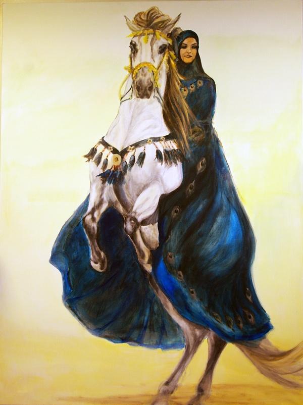 Arabian Princess, acryl painting on linen, 150 x 200 cm