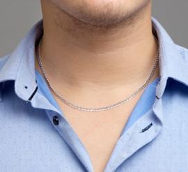 zilver gourmet collier 50cm