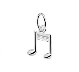 zilveren bedel muzieknoot klein