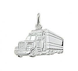 zilveren bedel vrachtwagen